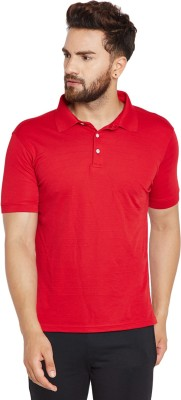 T10 Sports Solid Men Polo Neck Red T-Shirt