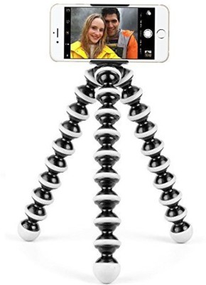 king shine Flexible Mini TriPod ( 6 Inch Height) For Camera, Dslr And Smartphones With Universal Mobile Attachment Tripod(Black, Supports Up to 500 g) 1