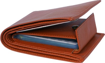 SAMTROH Men Casual, Trendy Tan Artificial Leather Wallet(11 Card Slots)