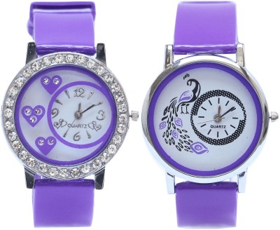 NEUTRON New Quartz Butterfly And Flower Pink And Gold Color Combo Watch (G99-G229) For Girls And Women Watch  - For Women