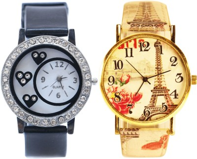 NEUTRON Latest Royal Love Valentine And Flower Pink And Gold Color Combo Watch (G104-G229) For Girls And Women Watch  - For Women