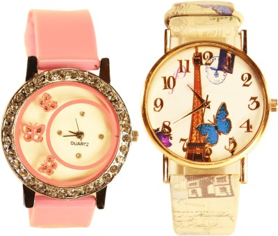 NEUTRON Treading Stylish Butterfly And Paris Eiffel Tower Pink And Multi Color Color Combo Watch (G108-G188) For Girls And Women Watch  - For Women
