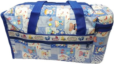 STOCKHAWKERS mothers diapers bag with double bottle warmers nursery mothers bag Dark Blue, sky blue STOCKHAWKERS Diaper Bags
