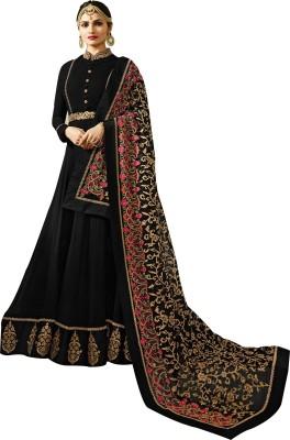 YOYO Fashion Anarkali Gown(Black)