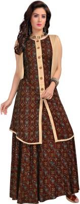 Bhavna Textiles Festive & Party Printed Women Kurti(Red)