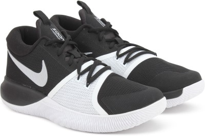 Nike ZOOM ASSERSION Basketball Shoes For Men(Black, White) 1