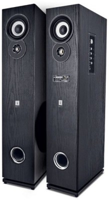 iball Karaok Studio L8 W 80 W Bluetooth Tower Speaker(Black, Stereo Channel)