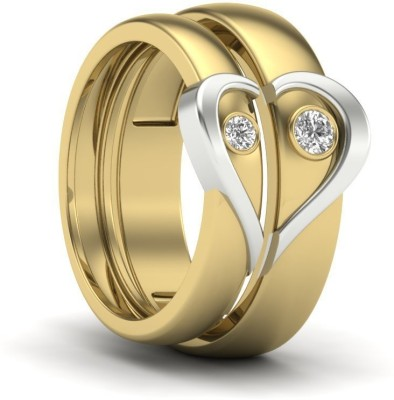 SMBros Couple Band Alloy Cubic Zirconia Platinum Plated Ring at flipkart