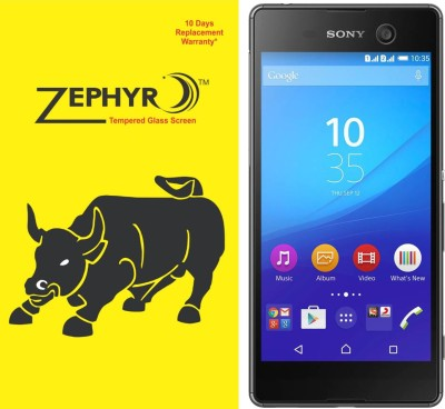 Zephyr Tempered Glass Guard for Sony Xperia M5 Dual(full body cover Glass)(Pack of 1)