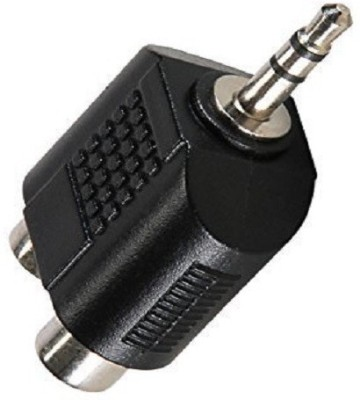 GVAAS  TV-out Cable 3.5mm Jack Stereo Male To 2 RCA Plug Female Adapter M/F Y Splitter RCA Audio Adapter Connector 3.5mm Audio Cable(Black, For TV)