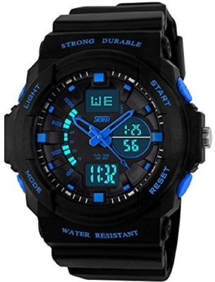 SKMEI GM5590BLU LCD Analog Digital Watch   For Men SKMEI Wrist Watches