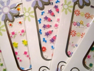 La Demoiselle 3D Nail Art Stickers Decals - 10 Packs Floral Flowers Design Mixed Styles Flipkart