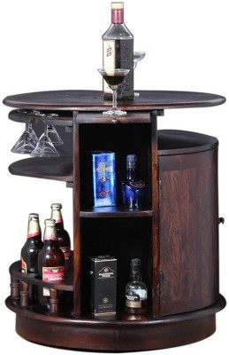 Flipkart Perfect Homes PureWood Sheesham Bar Cabinet(Finish Color - Walnut)