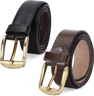 Winsome Deal Men Formal, Casual Brown, Black Artificial Leather Reversible Belt