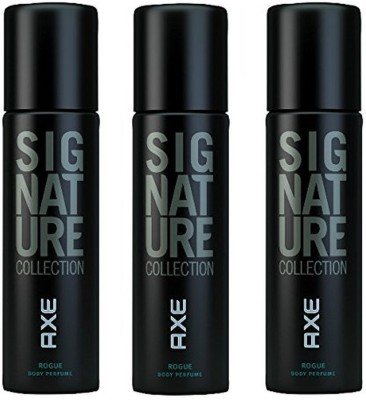 AXE Set of 3 Signature Collection Rogue Perfume Body Spray  -  For Men(122 ml, Pack of 3)