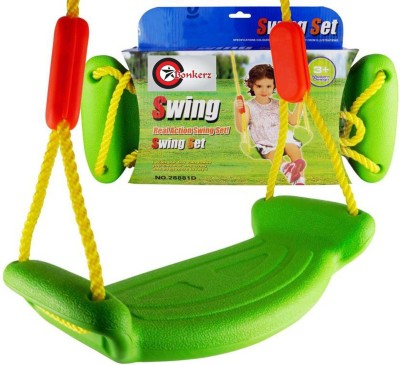 Bonkerz Rectangular Kids outdoor Plastic Swing(Multicolor)