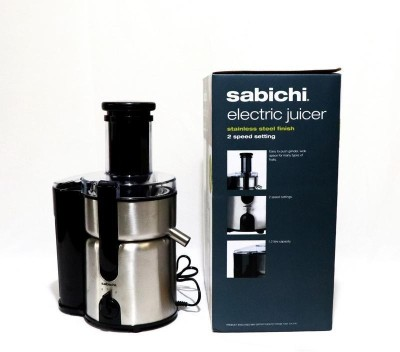 Sabichi Stainless Steel Hand Juicer Electric(Silver, Black Pack of 1)