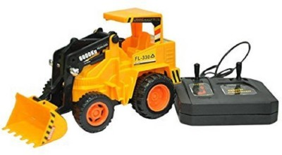 nvcollections Remote Control Construction JCB Machine & Truck(Yellow)