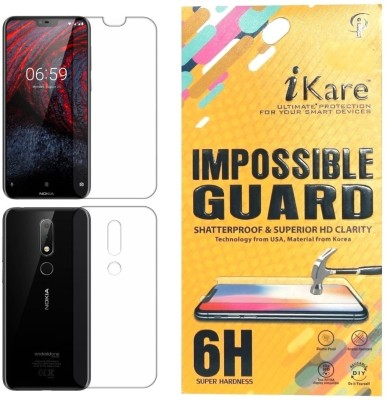 iKare Front and Back Screen Guard for Nokia 6.1 Plus(Pack of 1)