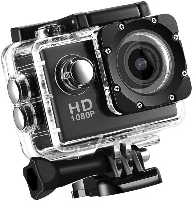 Piqancy Full HD 1080p 12mp Action Camera HD 1080p 12mp WaterProof Action Camera best quality Sports and Action Camera(Black, 12 MP)