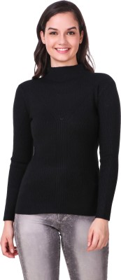 Metronaut Solid Round Neck Casual Women