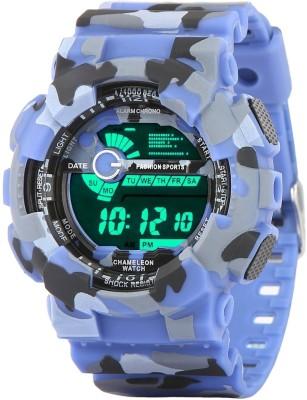 Xotak Army Digital Sports Fashion Blue Color Watch For Boys And Men
