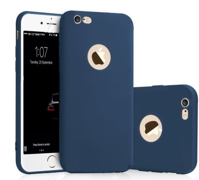 HD Buy Back Cover for Soft Silicone With Anti Dust Plugs Ultra thin Slim Back Cover Case For Apple iPhone 6/6S - Blue(Blue, Flexible Case)