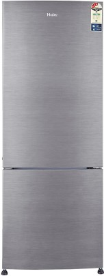 Haier 320 L Frost Free Double Door Bottom Mount 3 Star Refrigerator(Brushline Silver, HRB-3404BS-R/E)