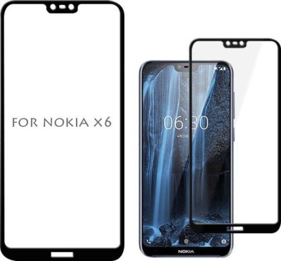 Ultra Clear Edge To Edge Tempered Glass for Nokia X6/ Nokia 6.1 Plus (5D Tempered Glass)(Full Glue Glass)(Pack of 1)