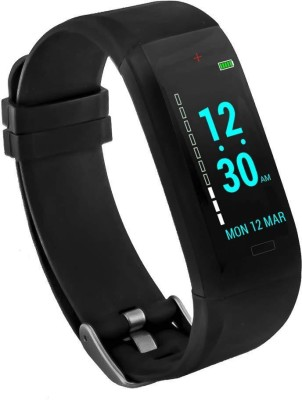 GOQii Vital(Black Strap, Size : Regular)