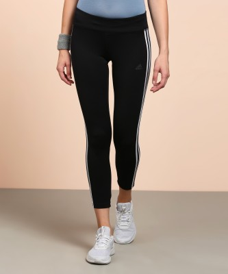 ADIDAS Solid Women's Black Tights