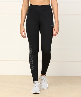 Wildcraft Solid Women Black Tights at flipkart