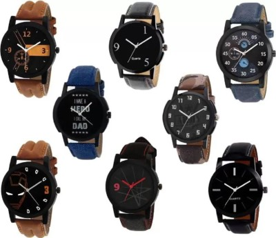 PARALLEL TIMES Presenting the 8 Set of Combo For Boys n girls Casual + Formal+ Party Wedding Watch  - For Men & Women