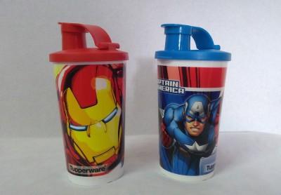 Tupperware Invincible & Captain America 355 Sipper(Pack of 2, Multicolor)