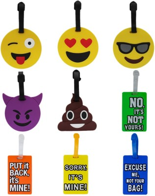 Tootpado Luggage Tag Set Emoji Funny Messages - Pack of 9 (CLNT42) - Bag Travel Tags Luggage Tag(Multicolor)
