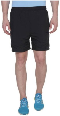 Nike Black Solid Men's Black Running Shorts
