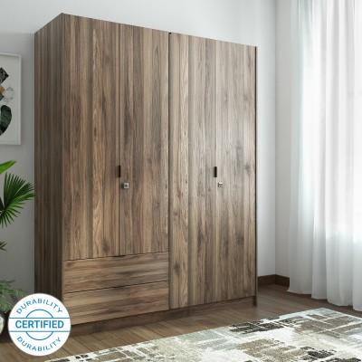 @home by Nilkamal Avery Engineered Wood 4 Door Wardrobe(Finish Color - Wenge)
