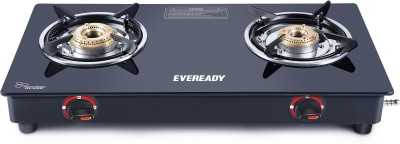 Eveready CS 2BLX Stainless Steel Manual Gas Stove(2 Burners)