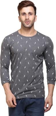 Van Heusen Solid Men Polo Neck Grey T-Shirt