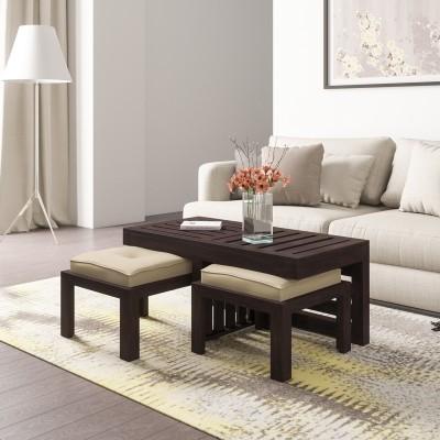 Flipkart Perfect Homes PureWood Mango Coffee Table(Finish Color - Walnut)