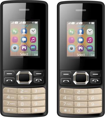 I Kall K25 Combo of Two Mobiles(Black)