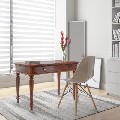 Flipkart Perfect Homes PureWood Sheesham Study Table(Free Standing, Finish Color - Walnut)