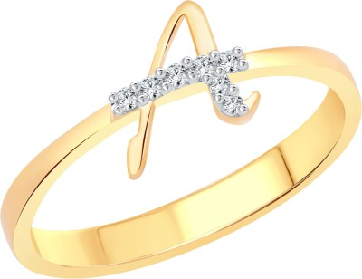 Vighnaharta Glowing Shine Alloy Cubic Zirconia 18K Yellow Gold Plated Ring