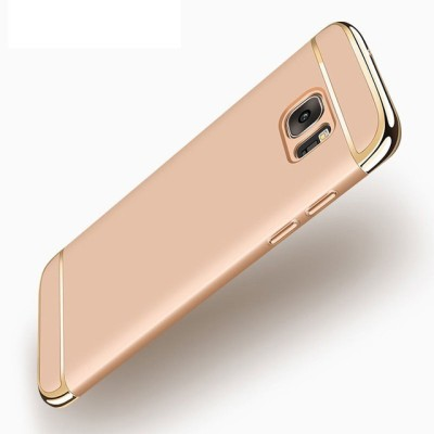 GadgetM Back Cover for Samsung Galaxy S7 Edge Gold, Plastic
