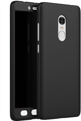 Coverage Front   Back Case for Mi Redmi Note 4 Black Coverage Plain Cases   Covers