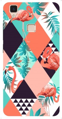 Amour Mobesories Back Cover for Vivo V3 Multicolor