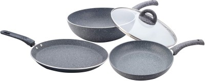 Wonderchef Granite , Grey Induction Bottom Cookware Set(Aluminium, 4 - Piece) at flipkart