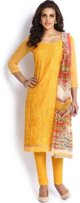 Soch Cotton Embroidered Semi-stitched Salwar Suit Dupatta Material