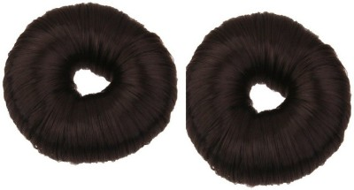 Param HAIR DONUT H D 002 7 C M BUN (black ) synthetic hair donut ( pack of 2) Bun(Black)