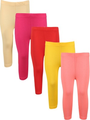 Greenwich Capri For Girls Casual Solid Cotton(Beige Pack of 5) Flipkart